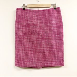 Talbots Tweed Wool Blend Pencil Skirt Pink